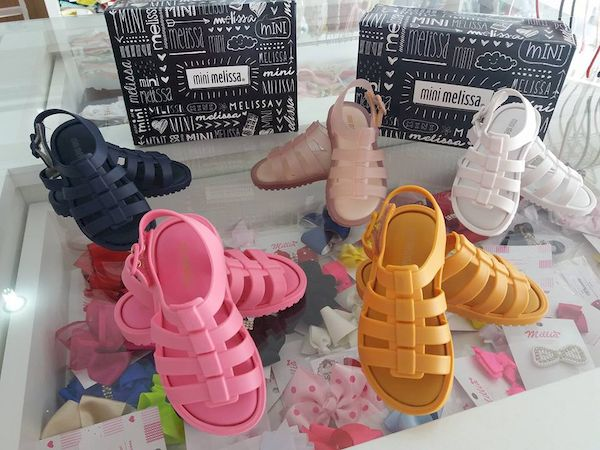 Mini Melissa Lace Up Sneaker Neon Pink